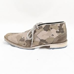 Steve Madden Hand Crafted Leather Army Print Shoes